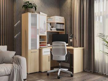 Домашний офис Лайт дуб сонома-белый