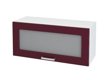 Кухня Мария шкаф верхний 800 газовка со стеклом ШВГС 800 ШхВхГ 800x358x314 мм