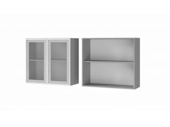 Шкаф 2-дверный со стеклом 8В2 МДФ ШхВхГ 800х720х310 мм