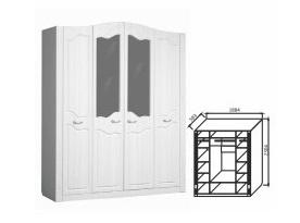 Шкаф 4-х створчатый Ева-10
