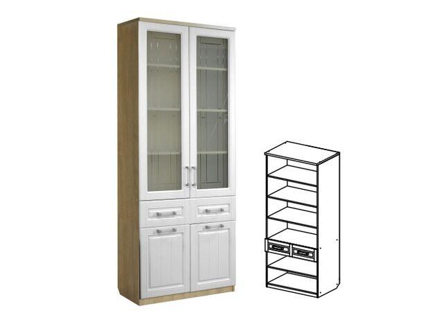Шкаф МЦН 2-х дверный 800 со стеклом ЮН-6 Юниор-7