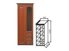 Шкаф МЦН комбинированный 2-х дверный Гармония-4