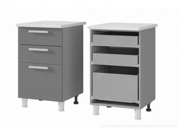 Шкаф-стол с 3 ящиками 5Р3 МДФ ШхВхГ 500х820х600 мм