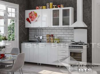 Гарнитур кухонный Айс-Крим 2,0 Белый Глянец
